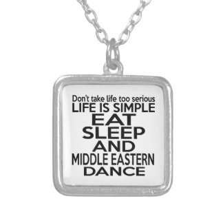 EAT SLEEP MIDDLE EASTERN SQUARE PENDANT NECKLACE