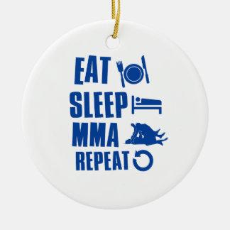 Eat sleep MMA Ceramic Ornament