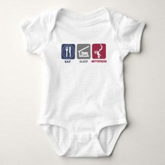 Eat Sleep Motocross Baby Bodysuit