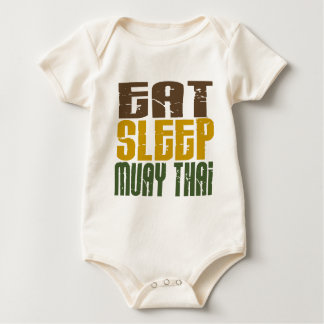 Eat Sleep Muay Thai 1 Baby Bodysuit