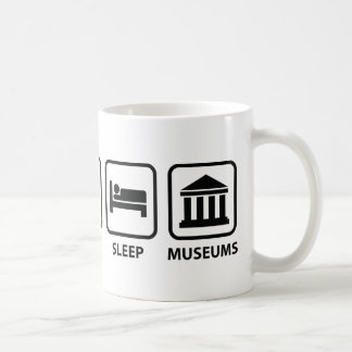 Eat Sleep Museums Coffee Mug