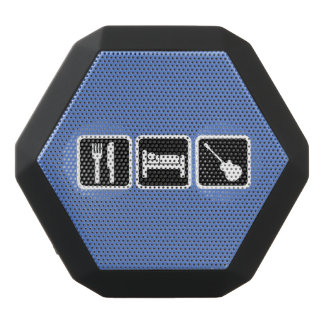 Eat, sleep, music black bluetooth speaker