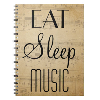 Eat, Sleep, Music Notebook