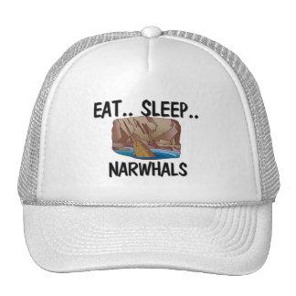 Eat Sleep NARWHALS Trucker Hats