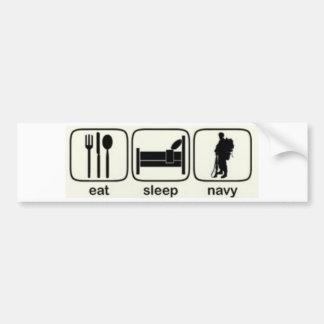 Eat, Sleep, Navy Bumper Sticker