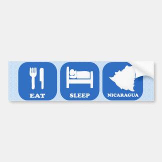 Eat Sleep Nicaragua Bumper Sticker