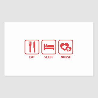Eat Sleep Nurse Sticker