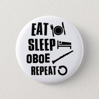 Eat Sleep Oboe 2 Inch Round Button
