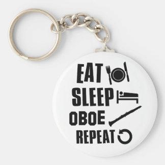 Eat Sleep Oboe Basic Round Button Keychain