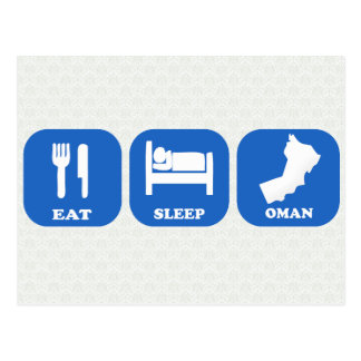 Eat Sleep Oman Postcard