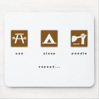 Eat Sleep Paddle Mouse Pad