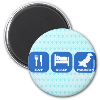 Eat Sleep Pakistan 2 Inch Round Magnet