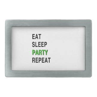 Eat Sleep Party Repeat Belt Buckles