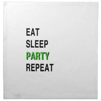 Eat Sleep Party Repeat Napkin