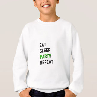 Eat Sleep Party Repeat Sweatshirt