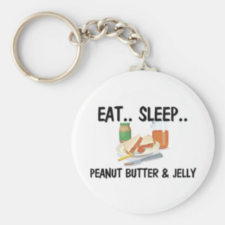 Eat Sleep PEANUT BUTTER & JELLY Keychain