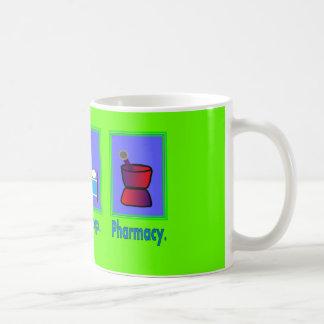 Eat Sleep Pharmacy  Pharmacist Gifts Basic White Mug