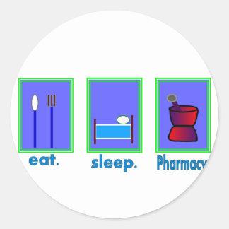 Eat Sleep Pharmacy  Pharmacist Gifts Round Sticker