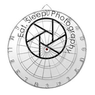 Eat. Sleep. Photography. Camera Dartboard