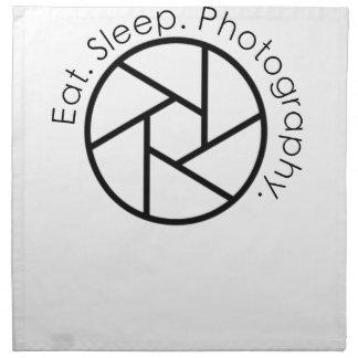 Eat. Sleep. Photography. Camera Napkin