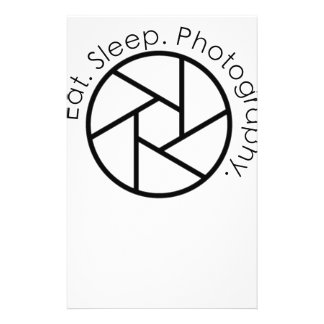 Eat. Sleep. Photography. Camera Stationery
