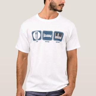 eat sleep piano T-Shirt
