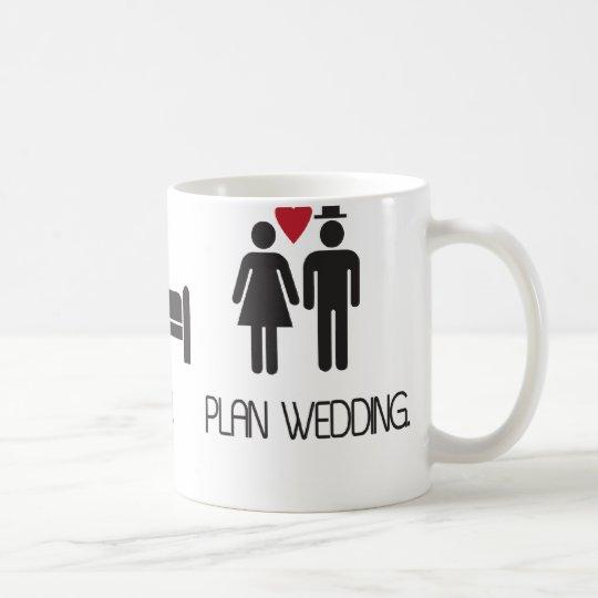 eat.sleep.plan wedding coffee mug
