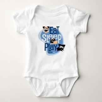 Eat, Sleep, Play! Apparel (Blue) Baby Bodysuit