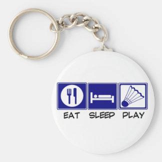 Eat, Sleep, Play Badminton Keychain