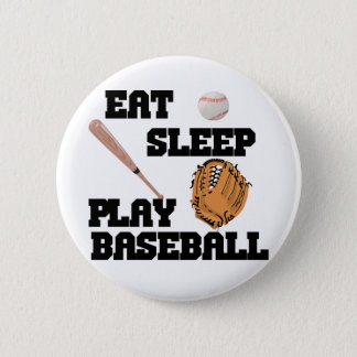 Eat, Sleep, Play Baseball 2 Inch Round Button