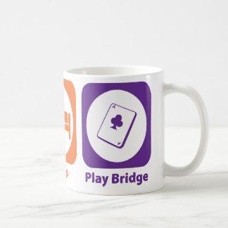 Eat Sleep Play Bridge Basic White Mug