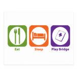 Eat Sleep Play Bridge Postcard