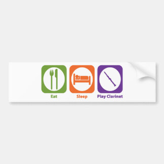 Eat Sleep Play Clarinet Bumper Sticker