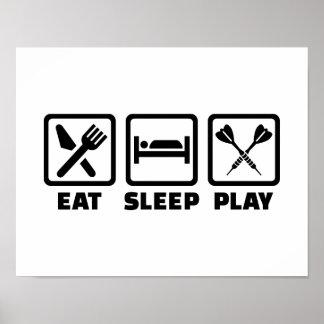 Eat Sleep Play Darts Poster