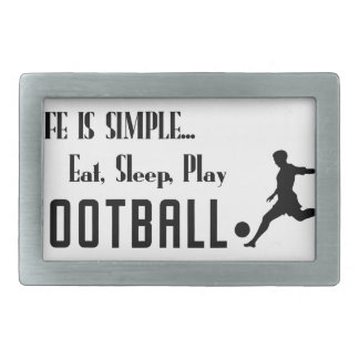 eat sleep play football belt buckles