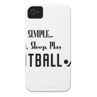eat sleep play football Case-Mate iPhone 4 cases