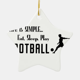 eat sleep play football ceramic ornament