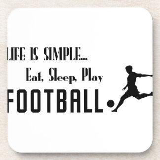 eat sleep play football coaster
