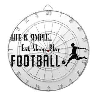 eat sleep play football dartboard