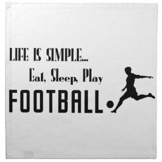 eat sleep play football napkin