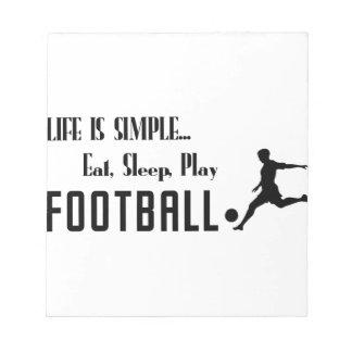eat sleep play football notepad