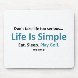 Eat, Sleep, Play Golf Mouse Pad