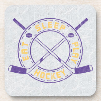 Eat Sleep Play Hockey Coaster