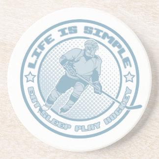 Eat, Sleep, Play Hockey Coaster