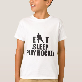 Eat Sleep Play Hockey Kids T-Shirt