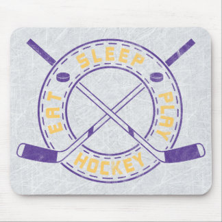 Eat Sleep Play Hockey Mouse Pad