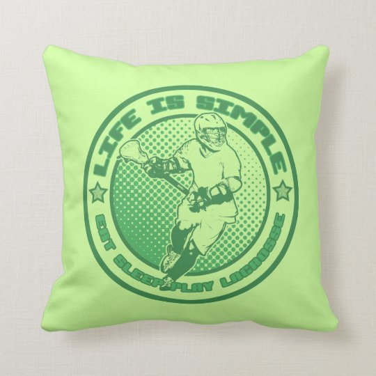 Eat, Sleep, Play Lacrosse Pillow