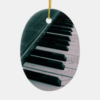 Eat Sleep Play (Piano) Ceramic Oval Ornament