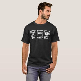 Eat sleep play pool billiards T-Shirt