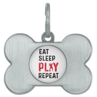 Eat Sleep Play Soccer Cool Player Dab Pet ID Tag